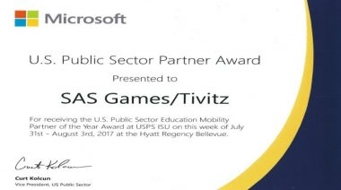 TiViTz 2017 Microsoft U.S. Public Sector Education Mobility Partner of the Year